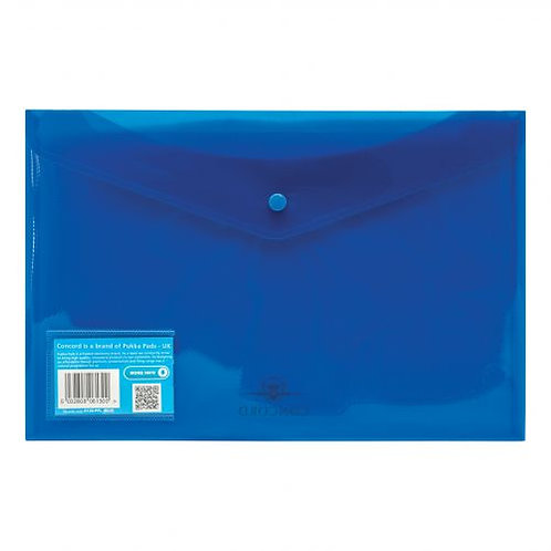 5-Pack A5 Document Wallets, Blue