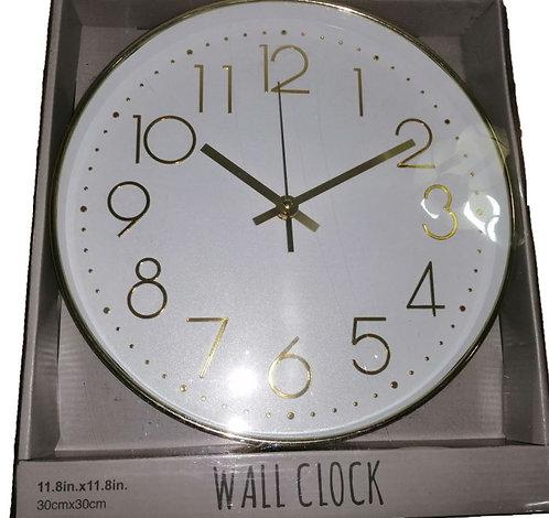 White & Gold Wall Clock 30cm, Primark Home