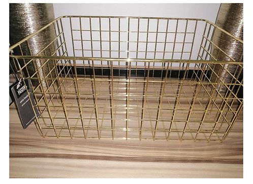 Gold Classic Wire Storage Basket, Carbon Steel by George Home