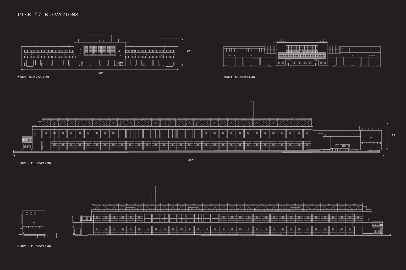 Pier 57 Existing Elevations