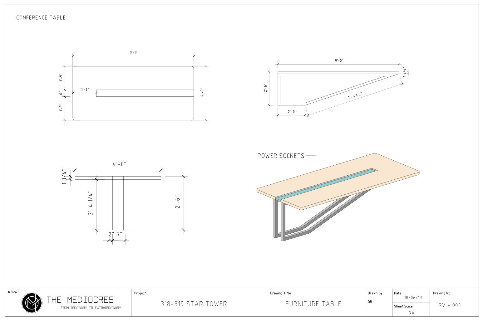 CONFERENCE TABLE DWG