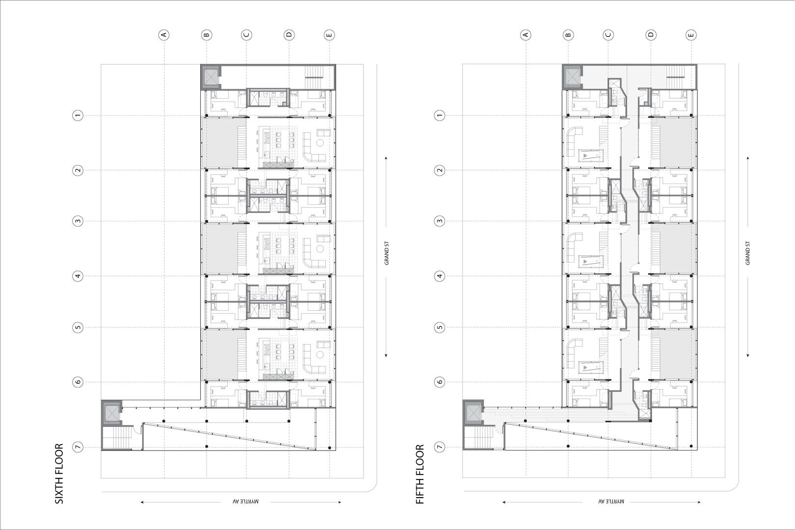 Fifth & Sixth Floor Plan