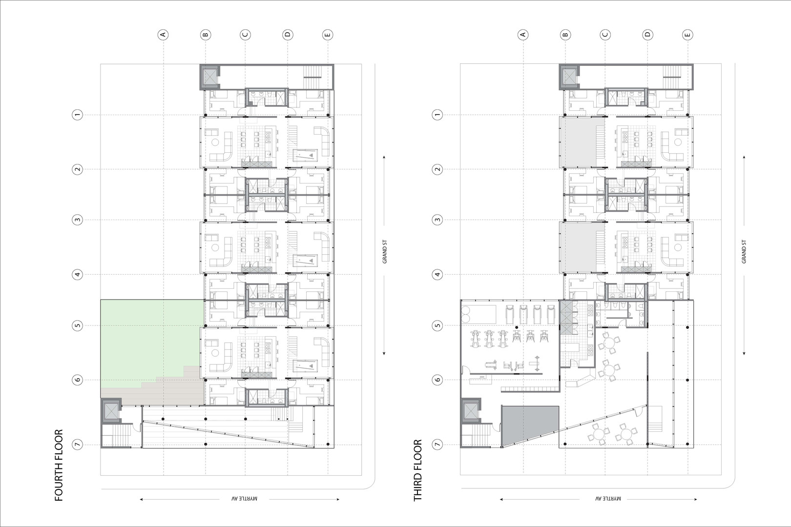 Third & Fourth Floor Plan