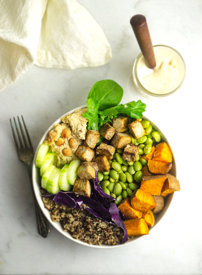 Quinoa Buddah Bowl with Sweet Potato and