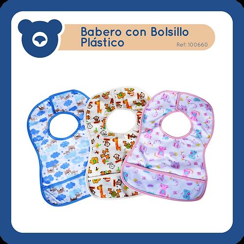 Babero con Bolsillo Plástico