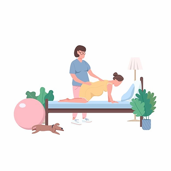 midwife-with-woman-flat-color-faceless-c