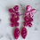 Thumbnail: Pink Magenta Flower Glitter Resin Earrings with Sterling Silver