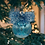 Thumbnail: Aqua and Silver Glitter Glass Ball Ornament with a Bow
