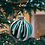 Thumbnail: Modern Black, Turquoise, White Glass Ball Ornament