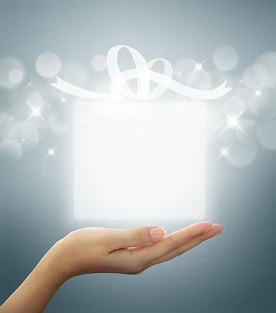 gift box Translucent white on woman hand.jpg