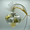 Hanging View Gold and Silver Alcohol Inks Heart Ornament | AMH Interiors Studio