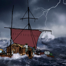 the raft in a storm