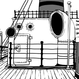 the boat deck