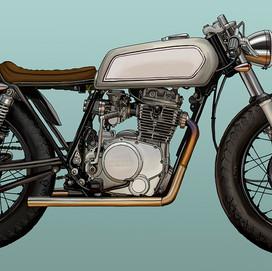 custom Yamaha motobike