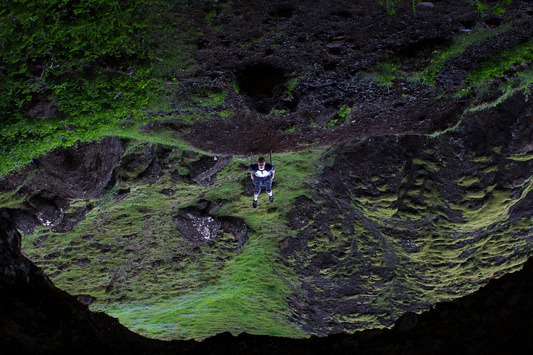 Conceptual self portrait in Iceland