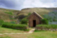 Viking hut in Iceland