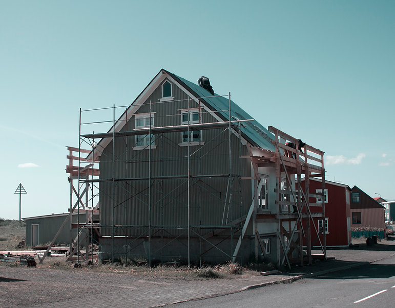 Smal village in Iceland