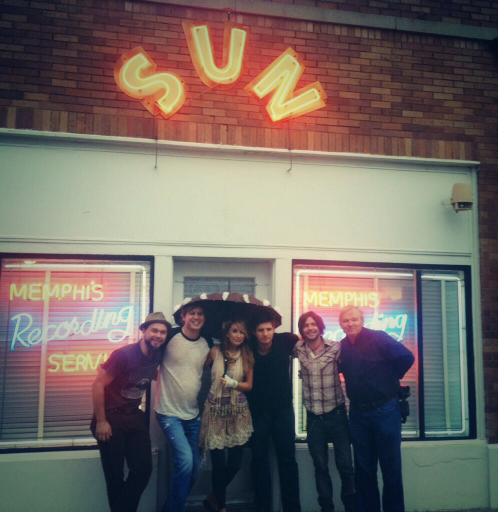 At Sun Studio in Memphis, TN.