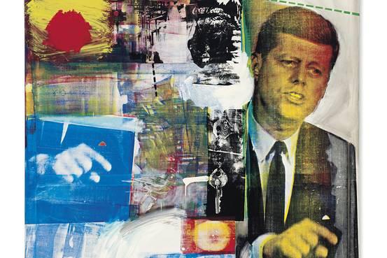 Rauschenberg silk screen featuring US President John F Kennedy 1964