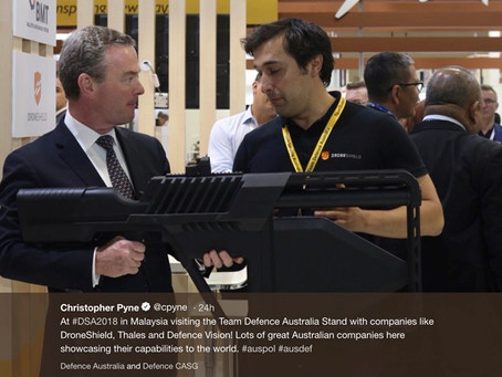 DroneShield announces appointment of Pyne & Partners to assist growth in Australian defence market