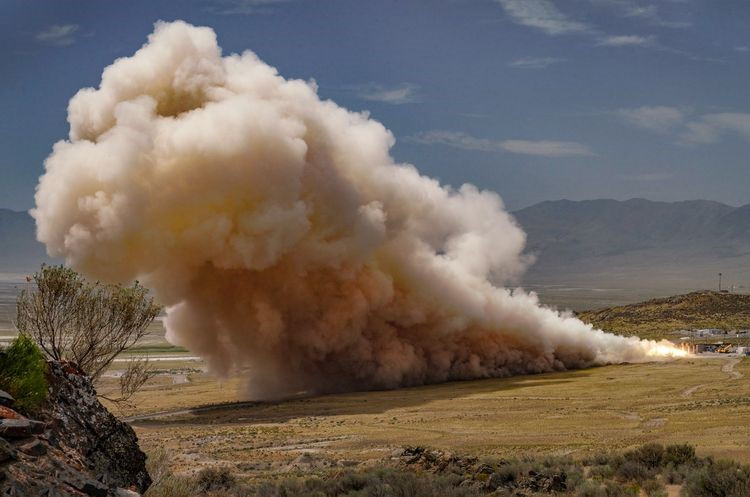 Northrop Grumman conducted the first test of its GEM 63XL rocket motor to serve the United Launch Alliance Vulcan Centaur on August 13 at its Promontory, Utah, facility.