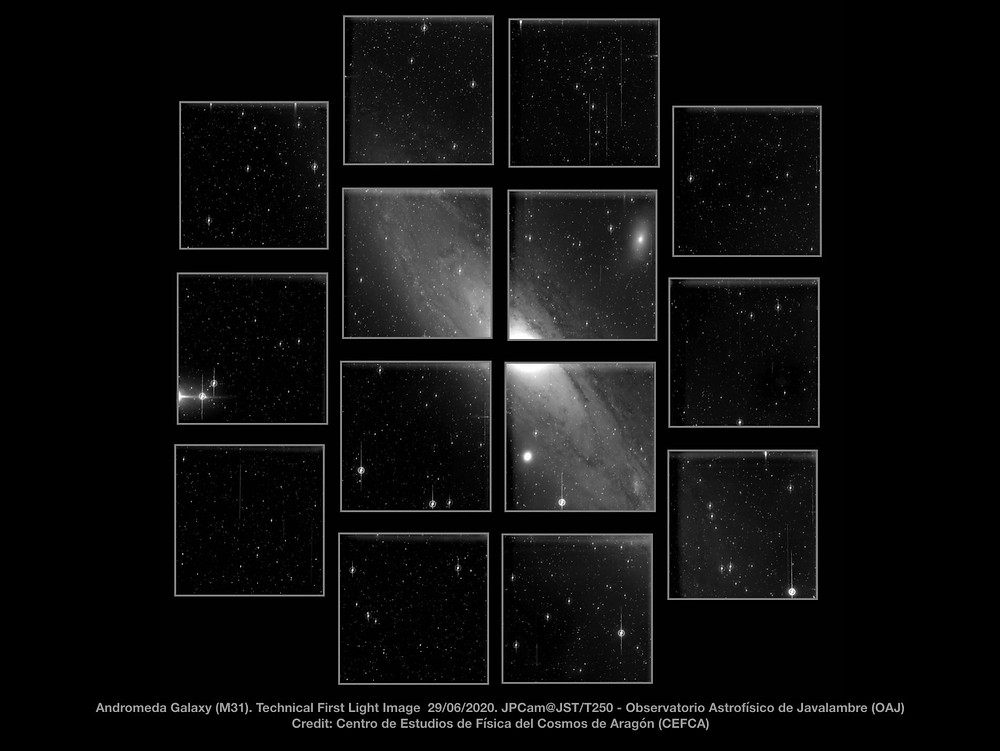 Teledyne e2v CCD image sensors successfully capture first light image of JPCam JST/T250 telescope