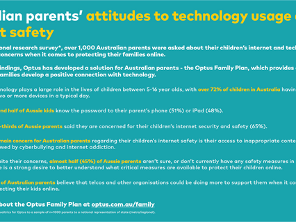 Optus launches new Optus Family plan as research reveals Australian families are looking to stay saf