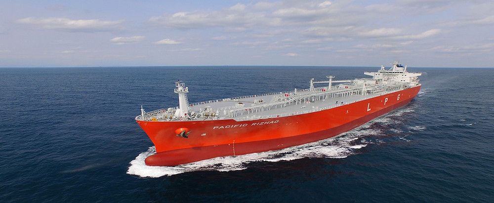 The Pacific Rizhao, an LPG tanker