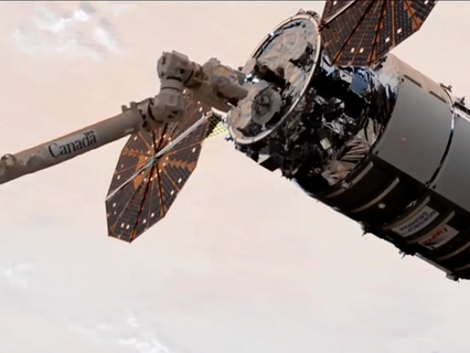 Northrop Grumman's Cygnus spacecraft berths with International Space Station