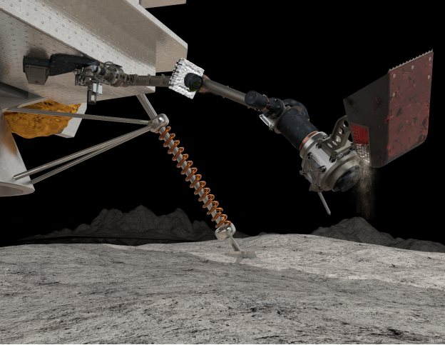Maxar has been selected by NASA to deliver SAMPLR, a robotic arm that will be used to explore the Moon. Image: Maxar Technologies
