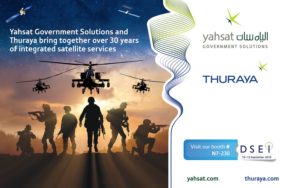 Yahsat and Thuraya reinforce UAE pressence DSEI 2019 with joint portfolio of defense communication systems