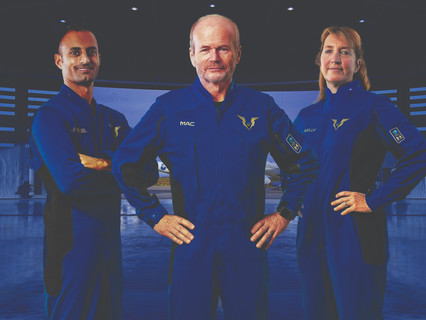Virgin Galactic and Under Armour unveil spacesuits for world's first commercial spaceflight pilots