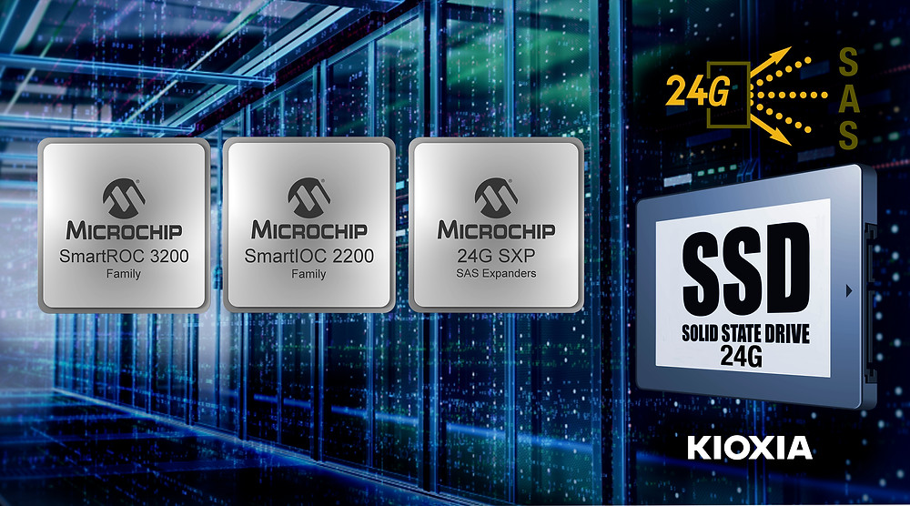 Microchip Technology and KIOXIA America successfully complete the industry's first 24G SAS end-to-end storage interoperability testing