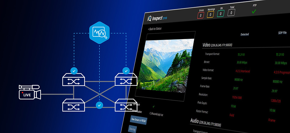 Telestream announces Inspect 2110 IP video monitoring for broadcast, production and distribution operations
