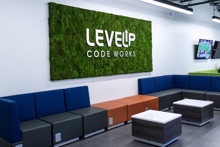 Northrop Grumman's Unified Platform system coordinator team is colocated at the U.S. Air Force's new LevelUP Code Works hub in San Antonio, Texas. Credit: Courtesy of the U.S. Air Force