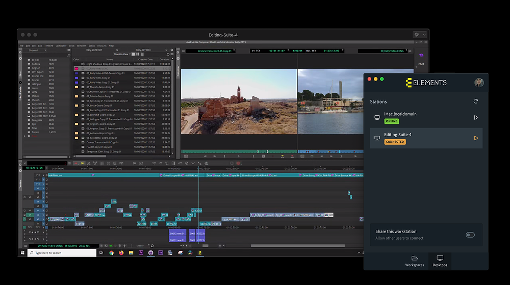 New remote editing software ELEMENTS satellite being launched during Remote Week 2020