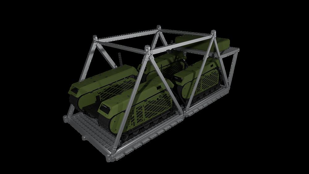 IrvinGQ develops airdrop platform compatible for use with the Milrem Robotics' Unmanned Ground Vehicle (UGV)