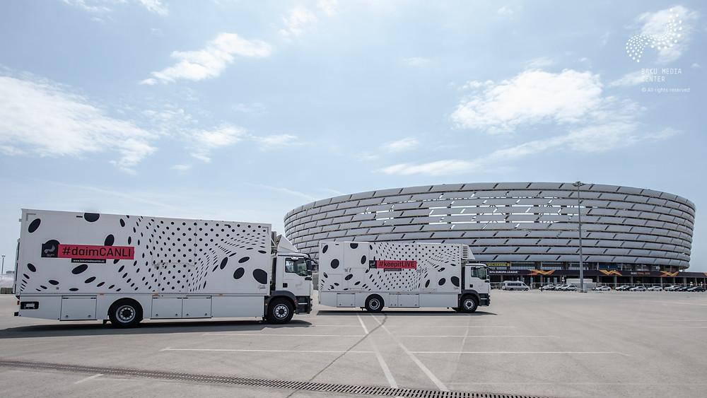 UEFA Europa League Final - Baku Media Center Trust in Broadcast Solutions OB Trucks at UEFA Europa League Final in Baku