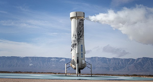 New Shepard booster on the pad after its 6th flight.