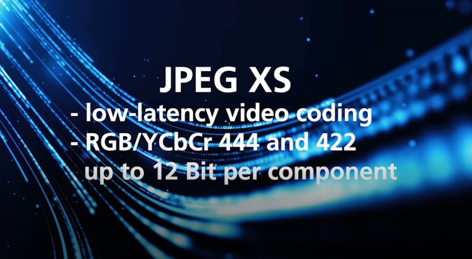 JPEG XS – the new standardized low-latency codec for transfer of images up to 8k in production quality via IP