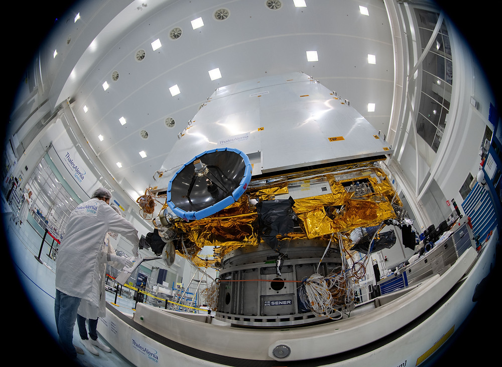 SENER Aeroespacial successfully delivers the flight model for the antenna deployment and pointing mechanism (ADPM) for Euclid
