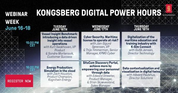 Get the latest on maritime digital solutions with Kongsberg Digital's webinar week