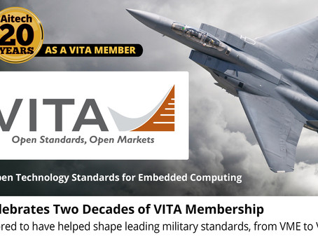 Aitech hits two decades of membership with VITA open standards trade association
