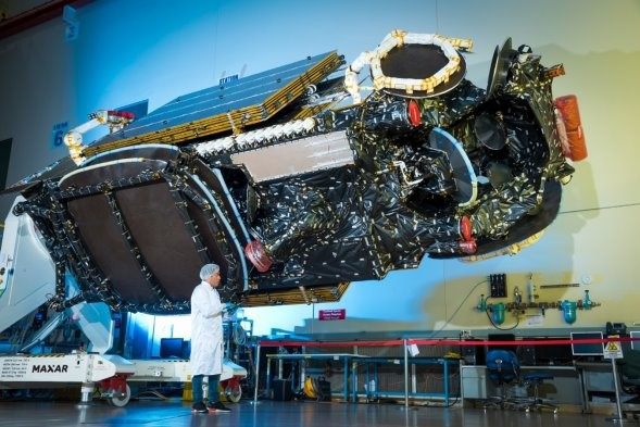 The Maxar-built Intelsat 39 communications satellite is performing according to plan after it's launch. Image: Maxar