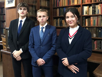 Students from King William's College challenging for the Conrad Challenge and a place at the Kennedy