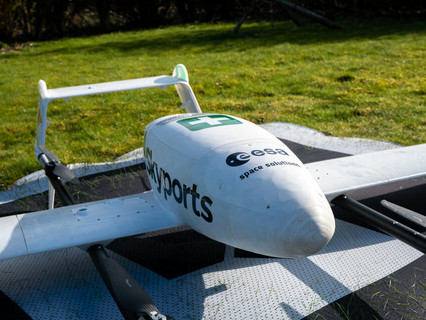 Space-powered Skyports drones deliver rapid coronavirus response assisted by ESA and UK Space Agency