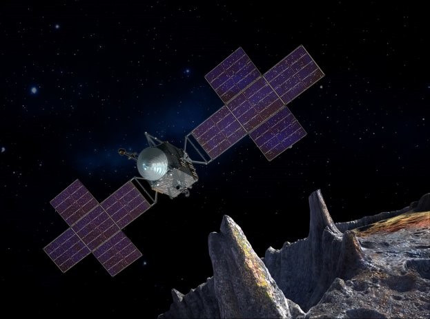 Psyche will launch in 2022 to explore a metallic asteroid orbiting the Sun between Mars and Jupiter.