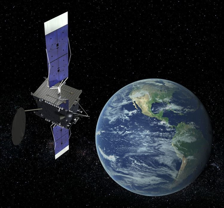 Artist rendering of an SES C-band satellite