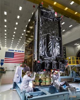 Third Lockheed Martin-built GPS III satellite delivered to Cape Canaveral for first U.S. Space Force