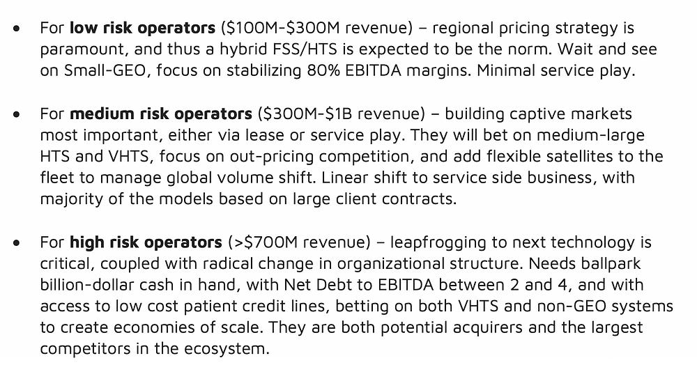 NSR Bottom Line: Betting on satcom fleets in a 3.0 era